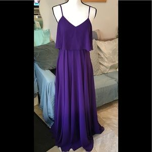 Lulu's violet maxi dress with zipper. Size S